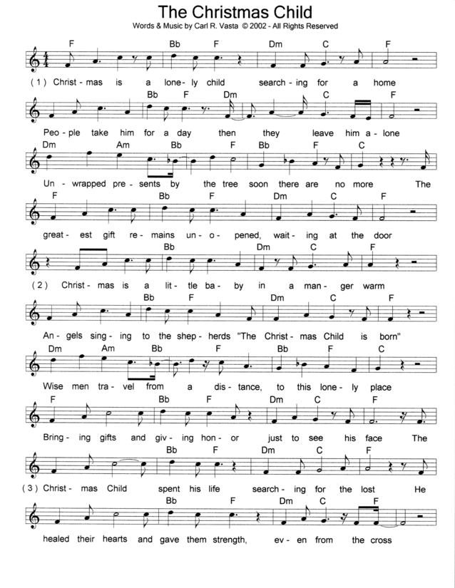 lead sheet page 1 - Song This Christmas